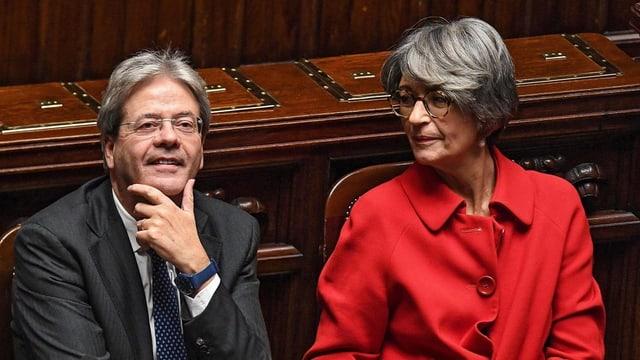 Paolo Gentiloni im Parlament.