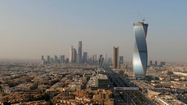 panorama da la capitala saudita Riad