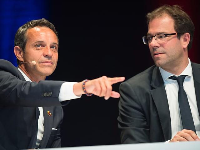 Das ehemalige FCB-Führungsduo Bernhard Heusler und Georg Heitz.