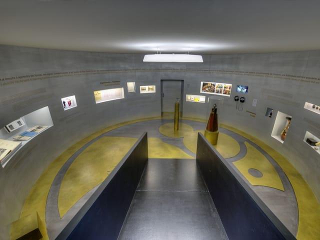 Runder Ausstellungsraum