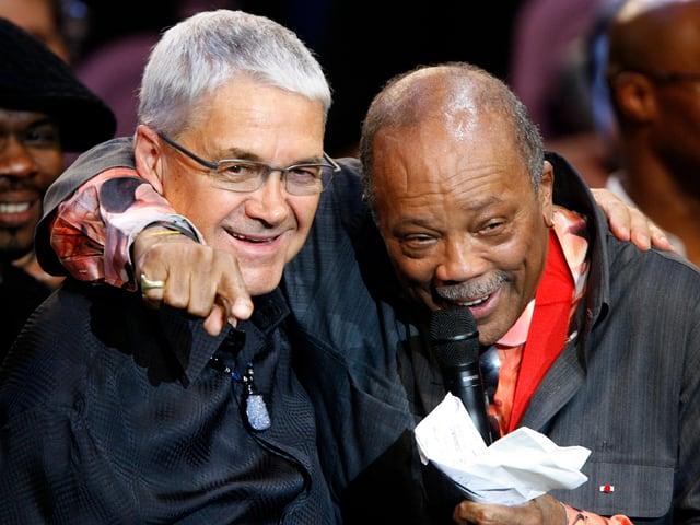 Claude Nobs und Quincy Jones