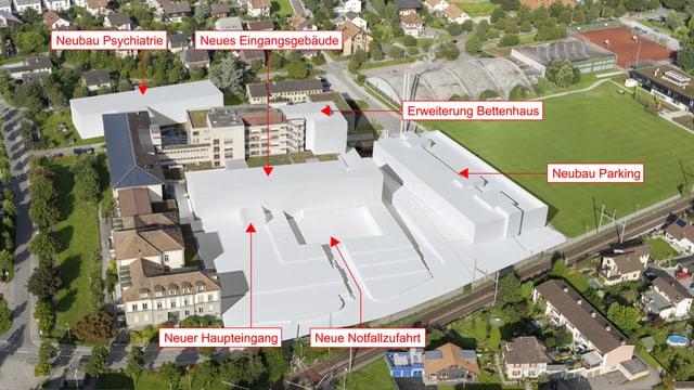Die Ausbauprojekte beim Spital Burgdorf bis 2018