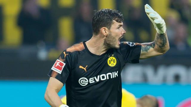 Roman Bürki nach dem Gegentor gegen Mönchengladbach.
