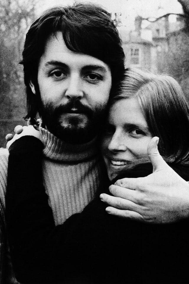 Paul und Linda in der Zeit der Plattenaufnahmen.