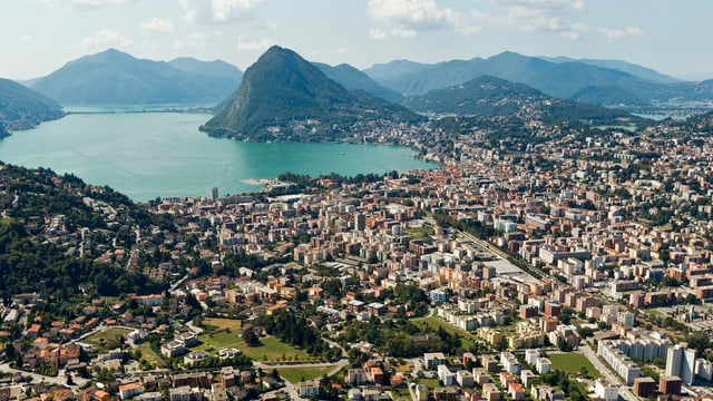 Lugano mit Lago di Lugano und San Salvatore