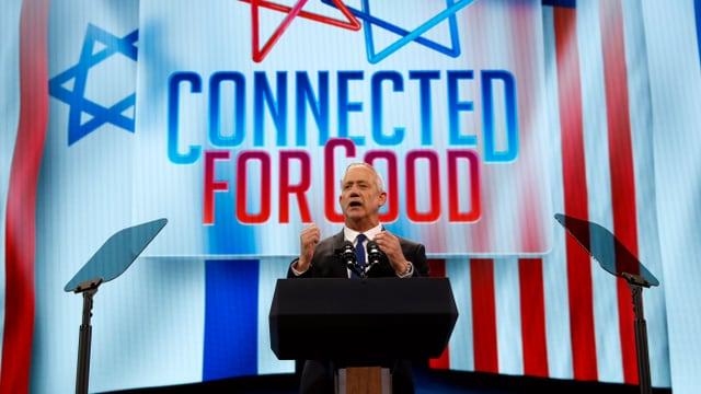 Benny Gantz auf einer Wahlveranstaltung