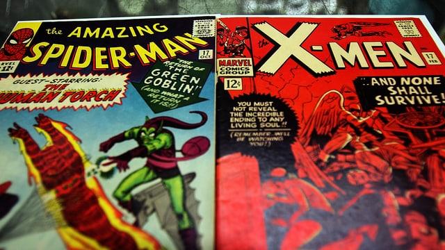 X-Men und Spiderman Comicheft.