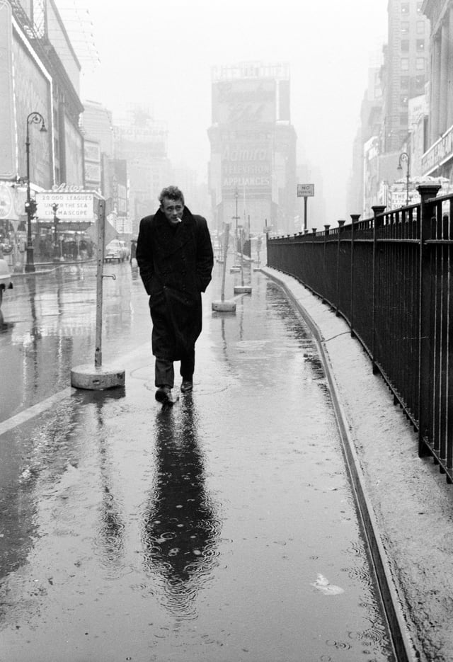 James Dean am Times Square in New York