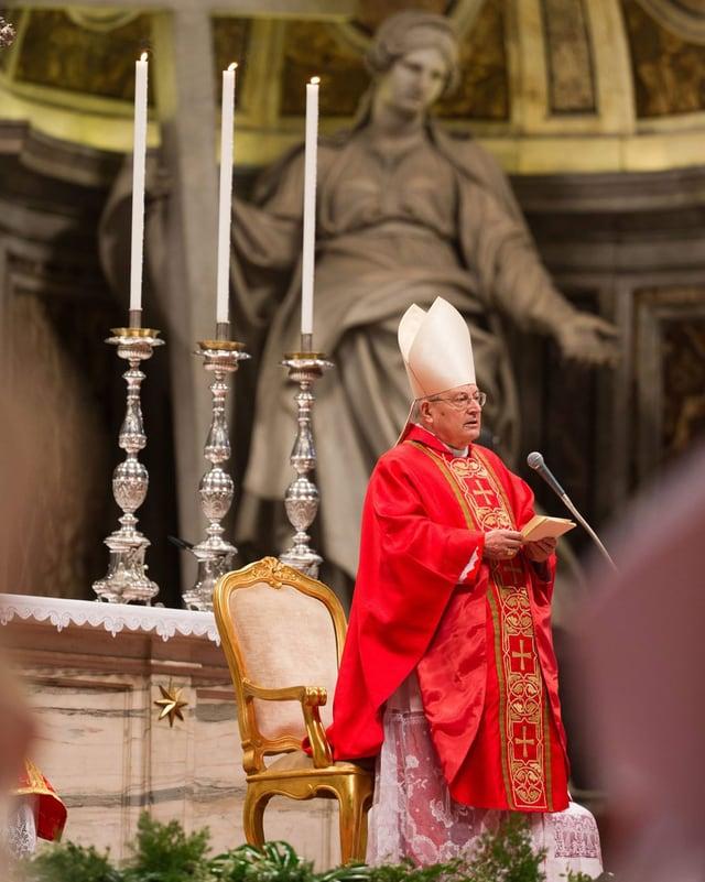 Kardinalsdekan Angelo Sodano während der Kardinalsmesse.