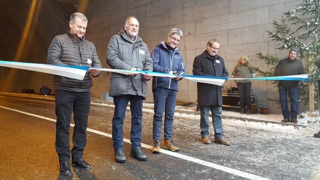 Da sanestra: Hans Kleinsstein, Reto Knuchel, Mario Cavigelli, Victor Peer