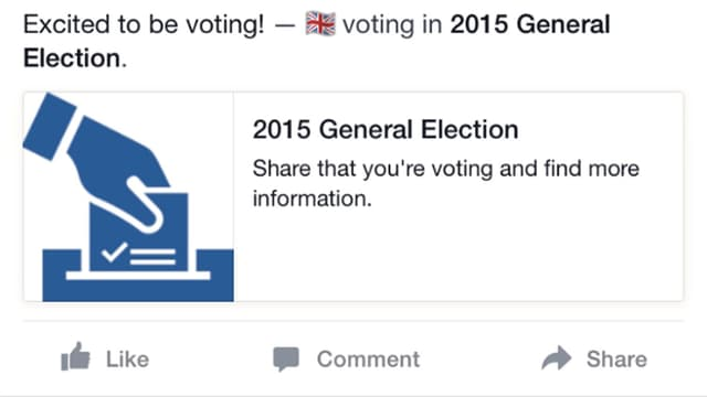 Voter-Button Facebook