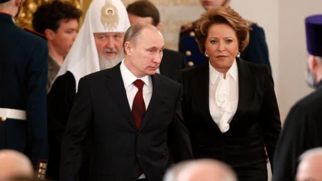 Putin und Valentina Matviyenko.