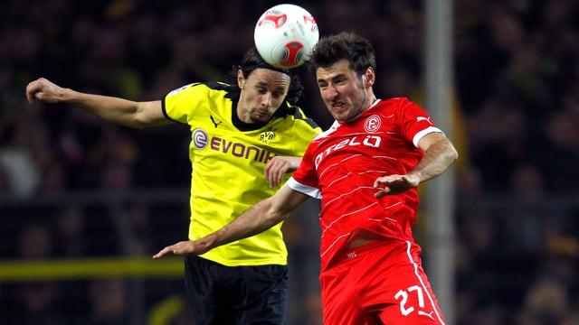 1:1 im harten Duell zwischen Dortmund und Düsseldorf.