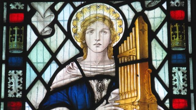 Die Heilige Cecilia ist im Bild.