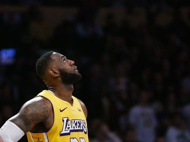 Lakers-Superstar LeBron James.