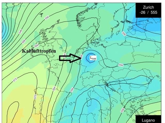 Wetterkarte für Europa.
