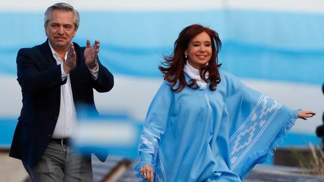 Fernandez und Kirchner an einer Wahlkampfveranstaltung