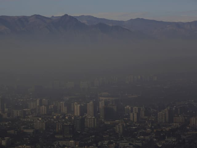Smog in Santiago de Chile