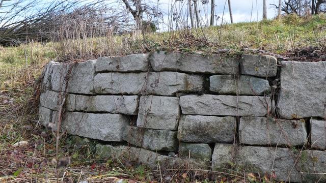 Trockenmauer im Naturgarten