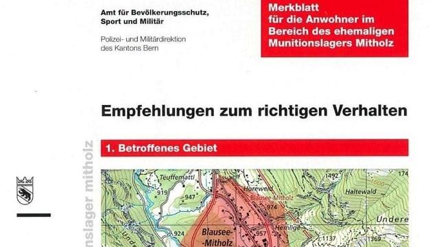 Ausschnitt aus Merkblatt für Bevölkerung