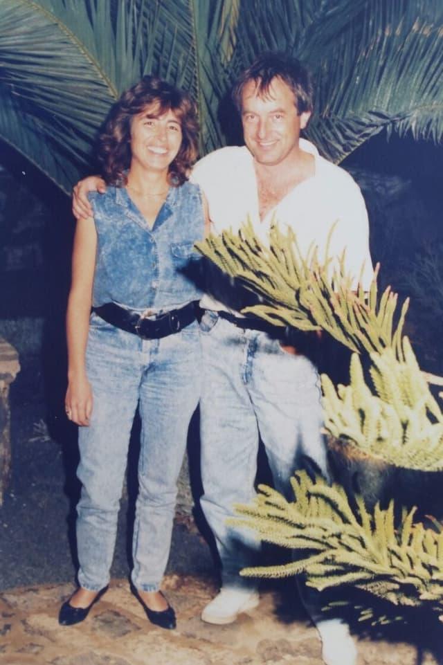Toni Staffelbach und seine Frau Queta 1987 auf Fuerteventura.