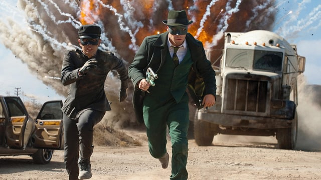 Jay Chou als Kato, Seth Rogen als Green Hornet.