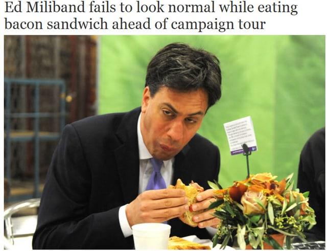 Miliband macht keine gute Figur beim Sandwichessen
