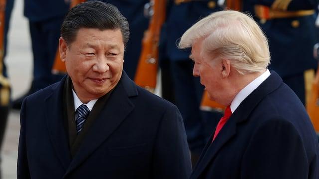 Xi und Trump sprechen miteinander.