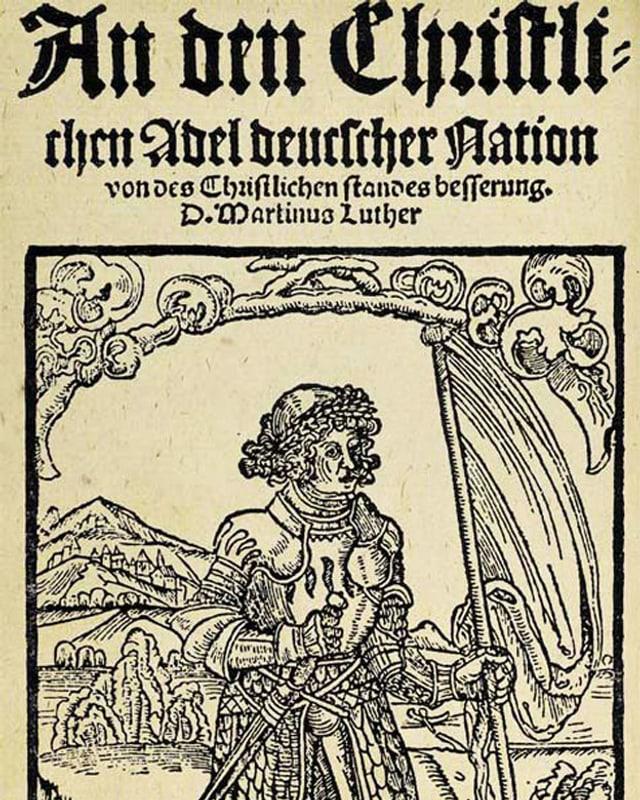 Das Buchcover von «An den christlichen Adel deutscher Nation».