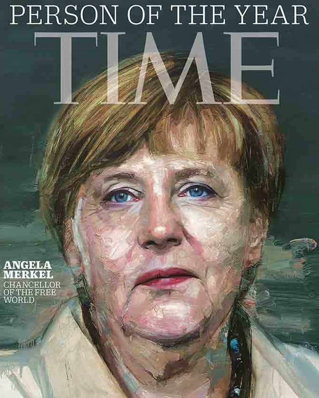 Titelbild Time mit Angela Merkel
