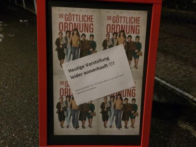 La pre-premiera en il kino Rosental a Heiden è stada vendida ora dal tuttafatg.