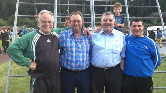 Ils presidents dal CBS, da san.: Pauli Dosch (18 onns pres.), Heini Plaz (4 onns), Albino Sterli (6 onns) ed Ivan Brenn (dapi 12 onns).