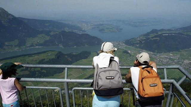 Touristen auf dem Stanserhorn