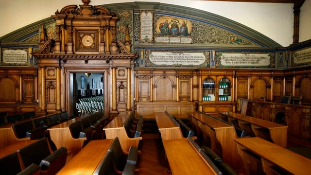 Die Reihen im Schaffhauser Kantonsratssaal.