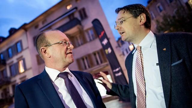 Jean-Luc Addor (links) und Franz Ruppen