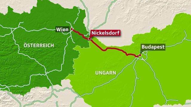 Karte Nickelsdorf.