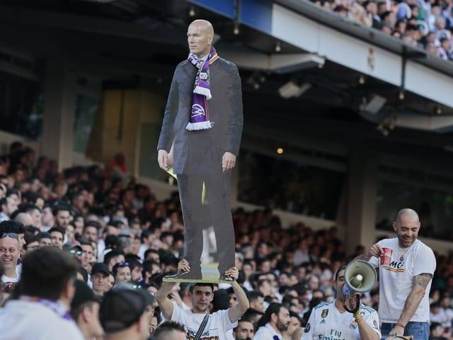 Zidane als Pappfigur