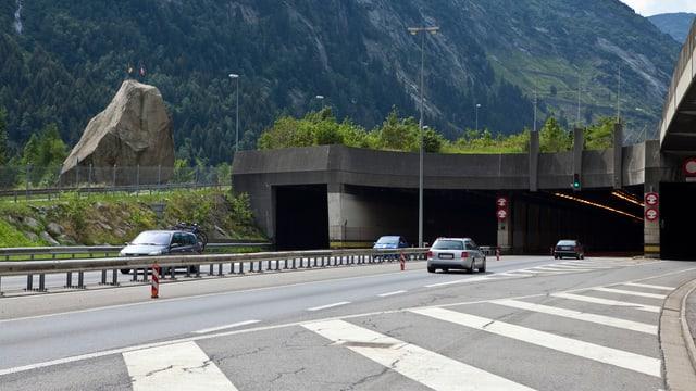 Nordportal des Gotthard-Strassentunnels