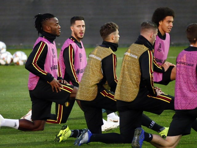 Die belgischen Nati-Spieler.