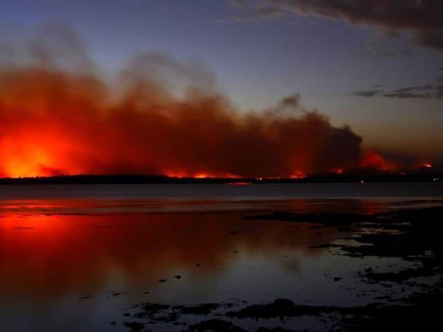 Feuerfront in Australien am Horizont (keystone)