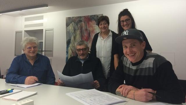 Benedetto Vigne, Arnold Rauch, Anna-Alice Dazzi, Anetta Zini e Renzo Hendry.