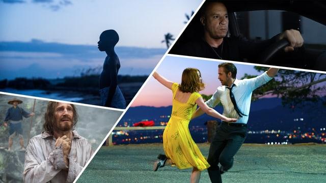 «The Fate of the Furious», «La La Land», «Silence», «Moonlight»