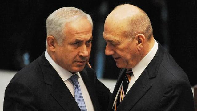 Netanjahu. Olmert.
