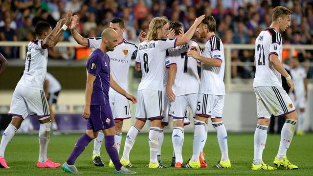Ils giugaders dal FCB sa legran suenter avair tutgà cunter il AC Fiorentina.