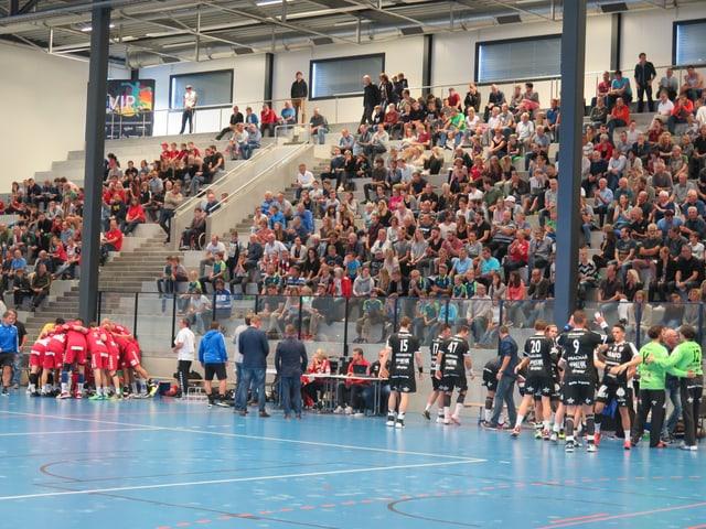 Viele Personen sehen ein Handball-Spiel