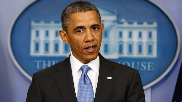 US-Präsident Barack Obama spricht.