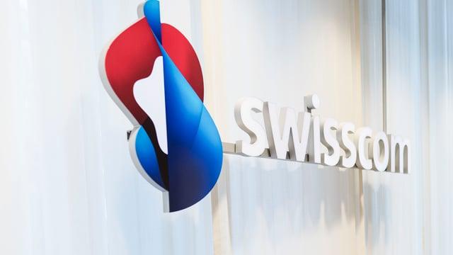 Logon von Swisscom mit Swisscom-Schriftzug