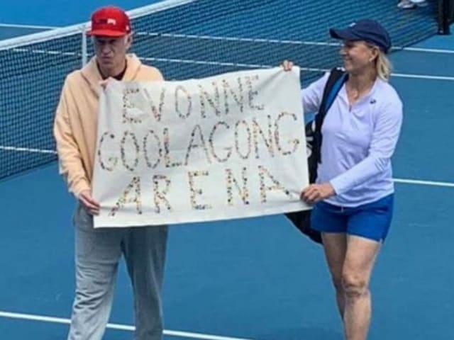 John McEnore und Martina Navratilova