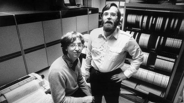 Bill Gates und Paul Allen im Jahr 1981