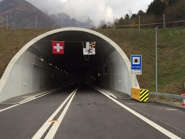 Sicht in Tunnel
